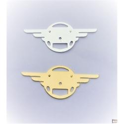 """Logo """"ailes"""" allu ou doré Mobylette"""