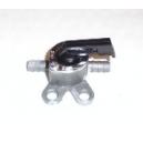 Robinet entre 2 durites de 6 à 8mm avec patte de fixation